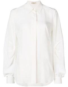 Mantu рубашка с драпировкой 42 белый Mantu