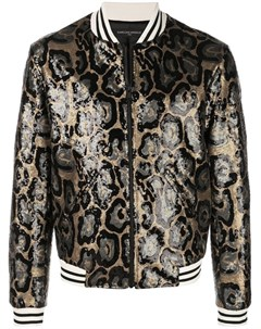 Garcons infideles куртка бомбер collins с отделкой пайетками и леопардовым узором Garcons  infideles