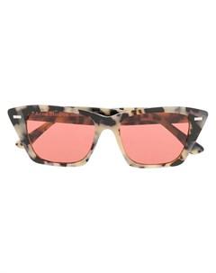 acne studios солнцезащитные очки с розовыми линзами нейтральные цвета Acne studios