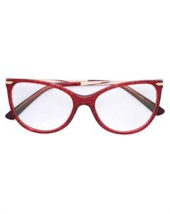 Bulgari очки в оправе кошачий глаз Bulgari