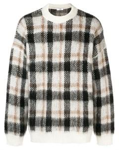Cmmn swdn вязаный свитер в клетку xs коричневый Cmmn swdn