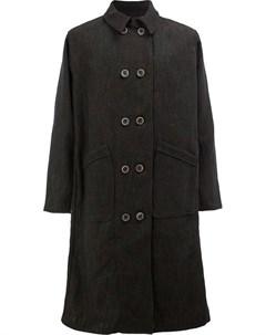 Individual sentiments двубортное пальто черный Individual sentiments