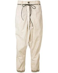 Rundholz брюки с мятым эффектом нейтральные цвета Rundholz