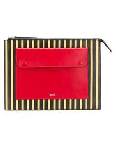ami alexandre mattiussi полосатый клатч с накладным карманом Ami alexandre mattiussi