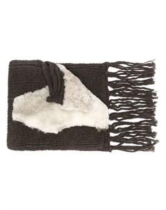 Cutuli cult объемный вязаный шарф один размер коричневый Cutuli cult