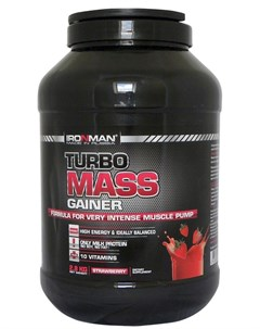 Гейнер TURBO Mass вкус Земляника 2 8 кг Ironman