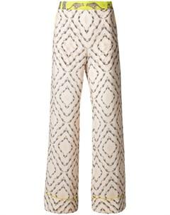 Antonia zander расклешенные брюки с принтом safari нейтральные цвета Antonia zander