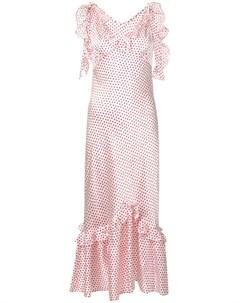 Maggie marilyn платье с оборками и узором в горох Maggie marilyn