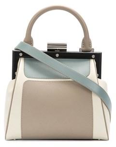 Perrin paris сумка на плечо le mini attelage нейтральные цвета Perrin paris