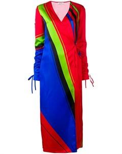 Attico платье халат с принтом Attico