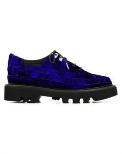 Rombaut бархатные туфли на шнуровке 42 фиолетовый Rombaut