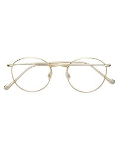 Moscot очки в круглой оправе 49 металлик Moscot