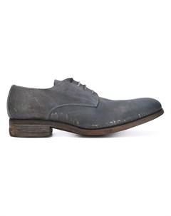 A diciannoveventitre туфли дерби с потертостями 42 серый A diciannoveventitre