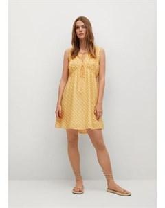 Струящееся платье с принтом Mina Mango