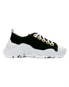 n?21 кроссовки на шнуровке и ребристой подошве 41 зеленый No21