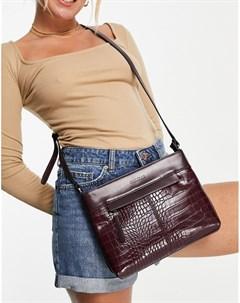 Баклажановая сумка через плечо с крокодиловым узором Chelsea Fiorelli