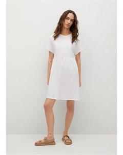 Платье с воланом хлопок Gisele1 Mango