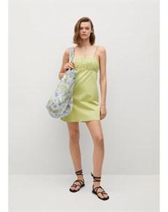 Платье со сборками Damas Mango