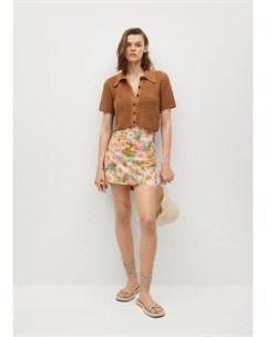 Мини юбка с цветочным принтом Mecano Mango