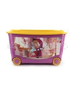 Ящик для игрушек на колесах Маша и Медведь Бытпласт
