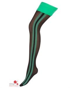 Чулки 40 den цвет чёрный зелёный Charmante