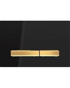 Клавиша Sigma 50 черная золото двойной смыв 115 672 DW 2 Geberit