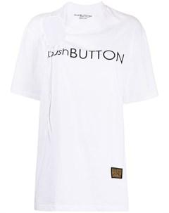 Футболка с вырезом Push button