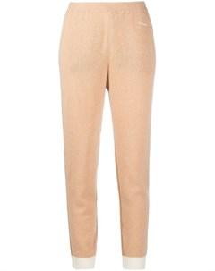 Трикотажные брюки с манжетами в рубчик Marni