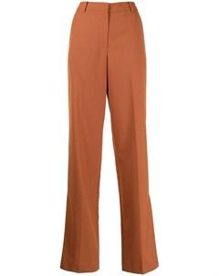 Расклешенные брюки с завышенной талией Push button