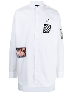 Рубашка на пуговицах с нашивкой Raf simons x fred perry
