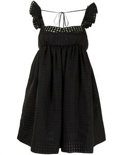 Клетчатое платье с оборками Push button