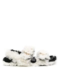 Сандалии из овчины с пряжками Marni