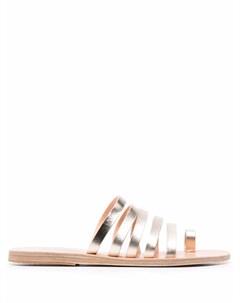 Сандалии Niki с эффектом металлик Ancient greek sandals
