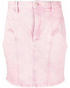 Джинсовая мини юбка со вставками Isabel marant