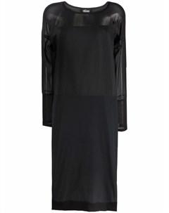 Платье с длинными рукавами и вставками Kristensen du nord