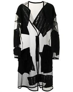 Пальто Organdy с прозрачными вставками Sulvam