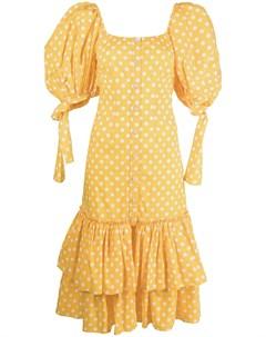 Платье миди в горох Caroline constas