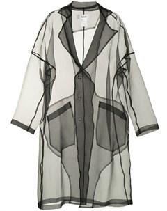 Прозрачное двубортное пальто Sulvam