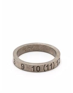 Серебряное кольцо с тиснением Maison margiela