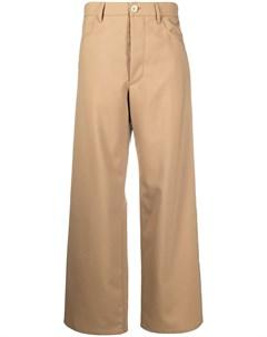 Прямые брюки с завышенной талией Marni