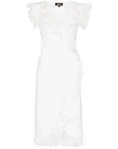 Платье миди Cadaques с оборками De la vali