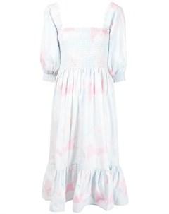 Платье миди Signe с принтом тай дай Cecilie copenhagen