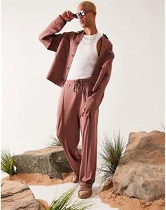 Розовая куртка Харрингтон в стиле oversized Asos design