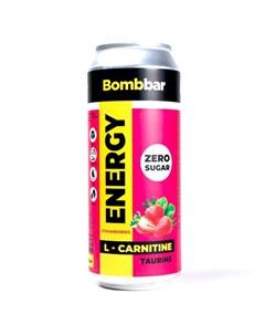 Напиток L карнитин Energy Клубника и земляника 500 мл Bombbar