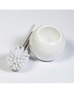 Ерш TERRA глазурованная керамика нержавеющая сталь белый 38 см 15036 Tatkraft