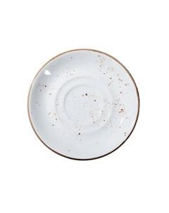 Блюдце 13см Rustics цвет белый Petye