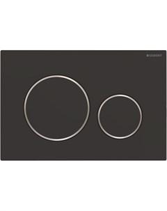 Кнопка смыва Sigma 20 115 882 14 1 черный матовый хром глянцевый Geberit