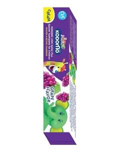 Зубная паста со вкусом винограда от 6 месяцев Kodomo Cream Паста 65г Lion