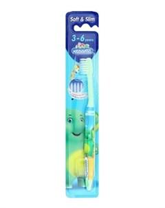 Зубная щетка от 3 6 лет Kodomo Toothbrush Soft Slim цвет в ассортименте Lion