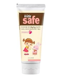 Зубная паста со вкусом клубники Kids Safe 90г Lion